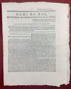 L'ami du Roi 1791 La Rochelle de Rignac Bordeaux Colonie Louis 16 Fréteau Camus