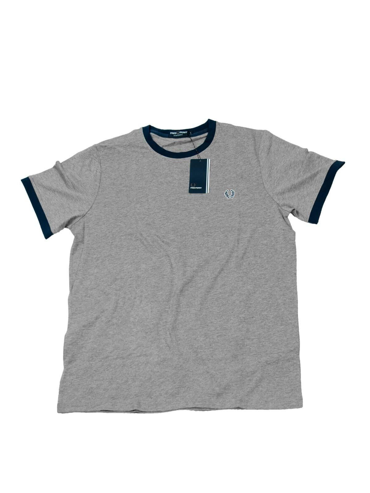 Fred Perry T-Shirt grey M7253 395   M9614 420  5648