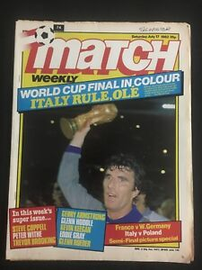 MAGAZINE-MATCH-N-74-WORLD-CUP-1982-MUNDIAL-82-FRANCE-ITALY-WEST-GERMANY-POLAND