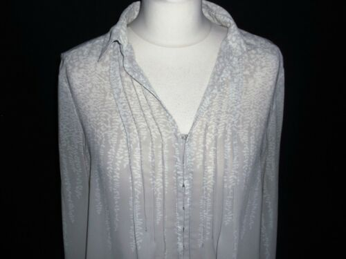 bianca grigio 12 velluto con a maniche in gelo lunghe Camicetta di taglia punta immacolato in BA0qx6