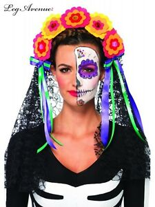 image is loading day of the dead mexican flower crown headband