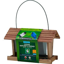 Pennington Classic Cedar Nature's Friend Wild Bird Feeder, 3 lbs Seed Capacity