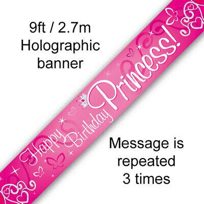3rd 7th 10TH 9th 5th Banner De Cumpleaños Rosa Princesa 1st 4th 6th 2nd 8th BA1003