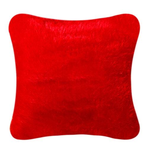 """18/"""" Fluffy Faux Fur Plush Pillow Case Soft Waist Throw Cushion Cover Home US ca"""