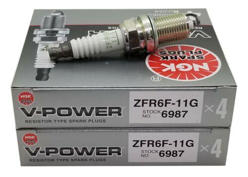 6987 Spark Plugs V Power 8 Plugs NGK ZFR6F11G