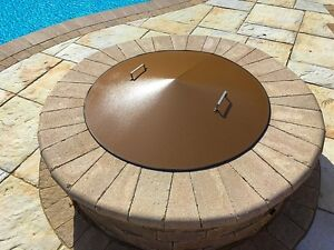 Round Metal Gas-Wood Fire Pit Campfire Ring Cover 39 ...