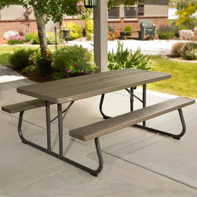 Prime Folding Picnic Table With Bench Outdoor Garden Benches Seat 6 Ft Patio Furniture Pdpeps Interior Chair Design Pdpepsorg