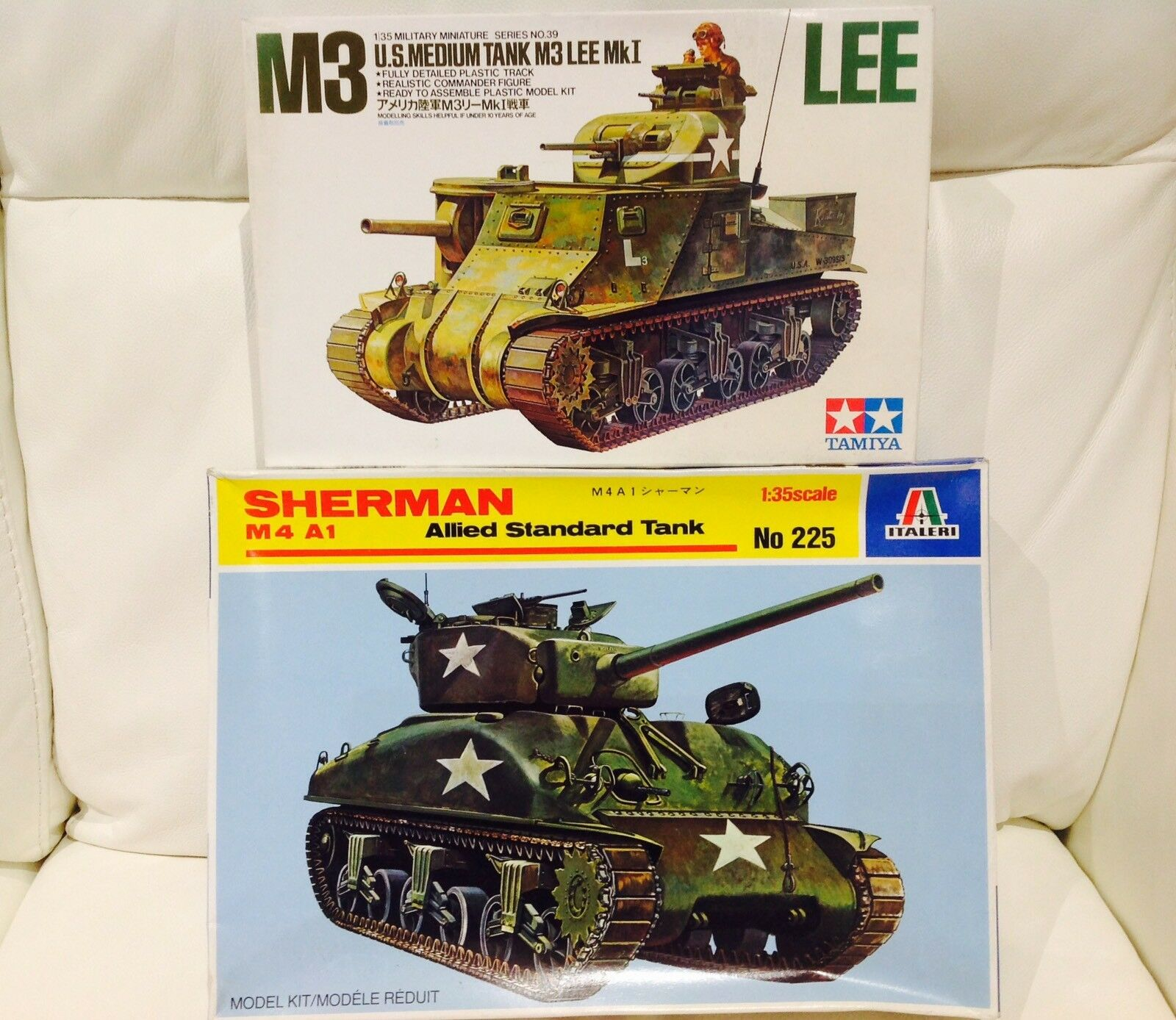 Tamiya italeri. SHERMAN M3 LEE U.S. Tanks  1 35 Scale Model Kits  bundle