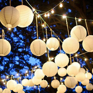 Image Is Loading 5pcs Chinese Paper Lantern White Balloon Lamp Ball