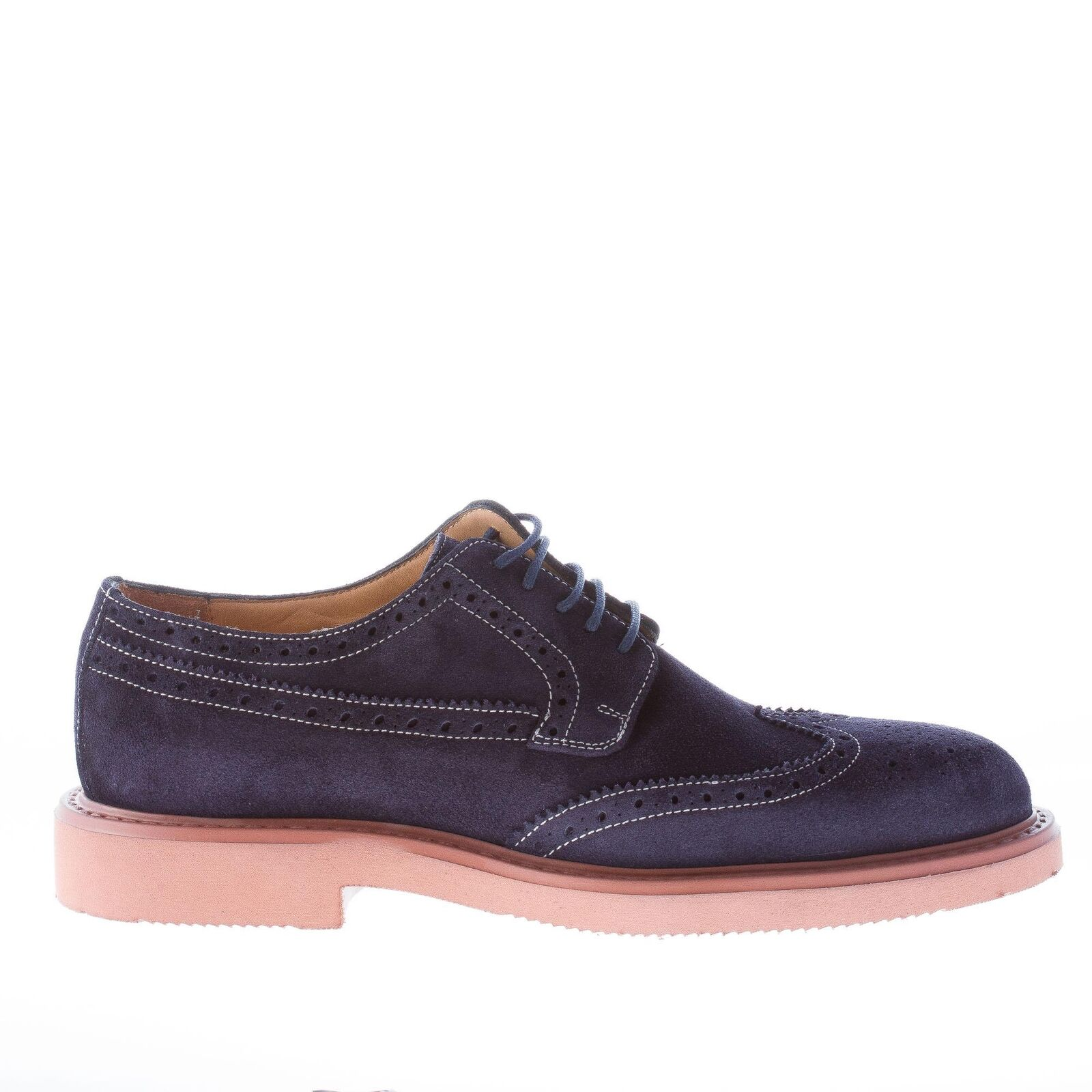 STRIKE FIRENZE herren schuhe shoes bluee suede derby brogue lightweight sole