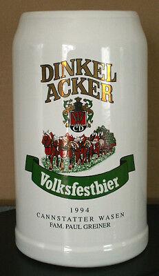 Haben Sie Einen Fragenden Verstand Maßkrug Dinkelacker Volksfestbier 1994 Paul Greiner Sammler Brauerei Seien Sie Freundlich Im Gebrauch