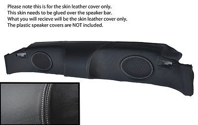 white stitching FITS MG MGF MGTF 95-05 SPEAKER BAR LEATHER SKIN COVER ONLY