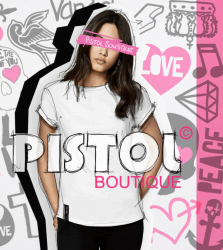 Pistolet Boutique Femmes Blanc Casual Col ras du cou Fashion AIN /'T NO BARBIE T-Shirt