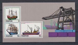 Ships Singapore Block 4 (MNH)
