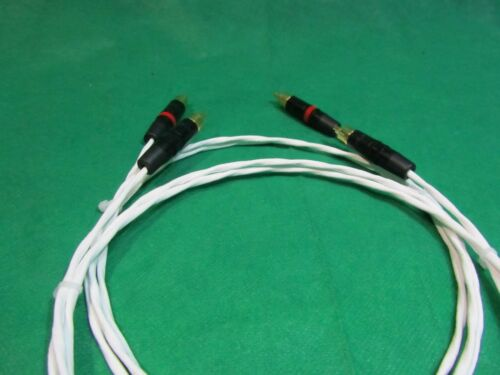 1 FT SILVER PLATED MIL-SPEC AUDIOPHILE INTERCONNECT FOR DIN AMPLIFIER RCA CABLE.