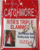Perch Rig, Size 4, Rita's Triple Slammer, Six Rigs, Tangle Free, Prrts-4br
