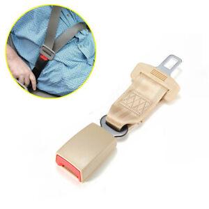 Universal-Beige-9-pulgadas-asiento-de-coche-Extensor-Extension-Hebilla-Del-Cinturon-De-Seguridad