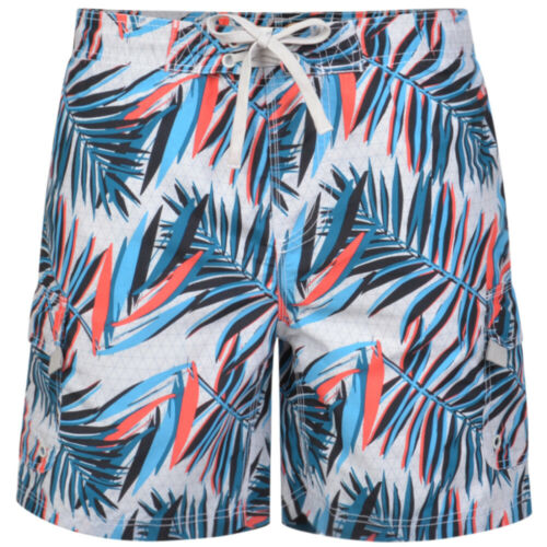 Mens KAM BIG Hawaiian Floral Swim Cargo Shorts Beach Summer Mesh Lined 2-8XL