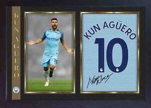 Kun-Sergio-Aguero-signed-autograph-photo-print-MANCHESTER-MAN-CITY-Framed