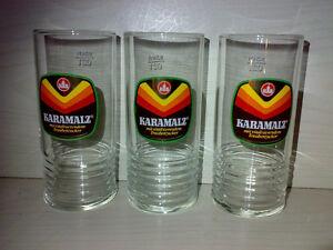 3-Glaeser-Bierglaeser-KARAMALZ-Henninger-Braeu-0-2-l-Sahm-70s-KULT-TOP-LOOK