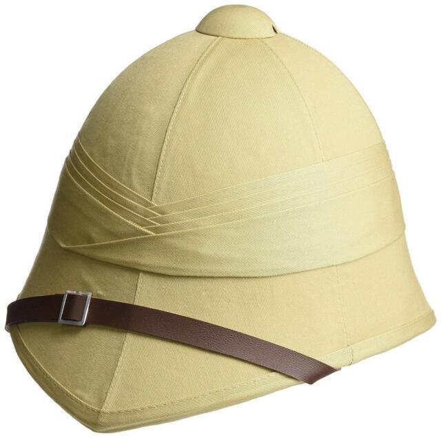 BRITISH PITH HELMET sand military safari hat army reenactment Zulu Boer war  cap 72a9492b22b