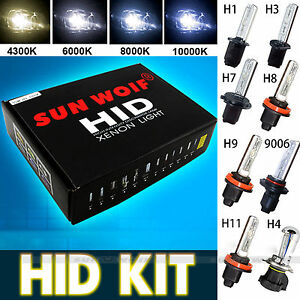 sunwoif 55w hid xenon kit umr stkit nachr stsatz h1 h3 h4. Black Bedroom Furniture Sets. Home Design Ideas