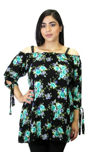 Floral Black MAternity Long Sleeve Top Pregnancy Blouse New Womens