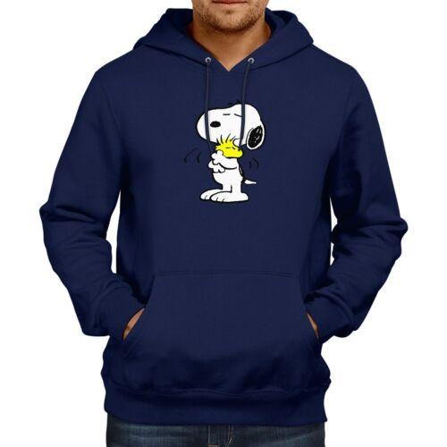Peanuts Snoopy Hugging Woodstock Love Hooded Sweater Jacket Pullover Hoodie
