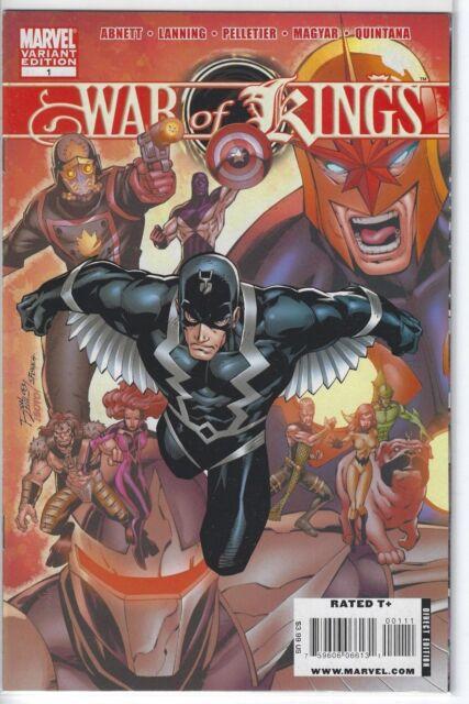 abb6a5e52d86a War Of Kings  1 Ron Lim Variant Marvel Comics 2009 Inhumans Nova Darkhawk