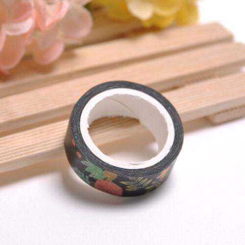 7M DIY Series Floral Washi Sticker Decor Roll Paper Masking Adhesive Tape Craft