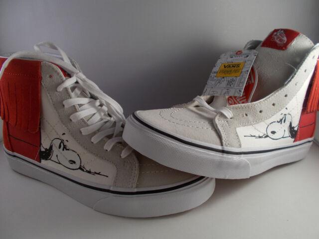 VANS SK8-Hi Moc Peanuts Dog House Bone Snoopy Shoes Women s Size 7 ... d293c89f148