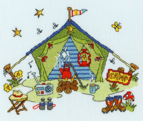 Bothy Threads Point De Croix Kit-Sew Dinky tente