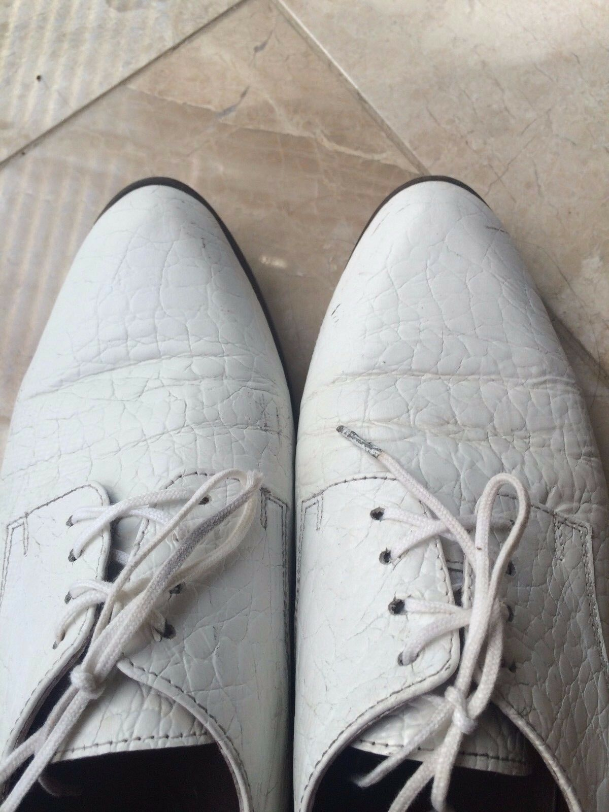 Rachel Comey WHITE Loafer embossed LEATHER Scarpe Brewer Oxford Brogues Loafer WHITE Flats 7.5 fea5ce
