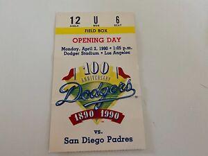 1990 Opening Day Los Angeles LA DodgersTicket Stub