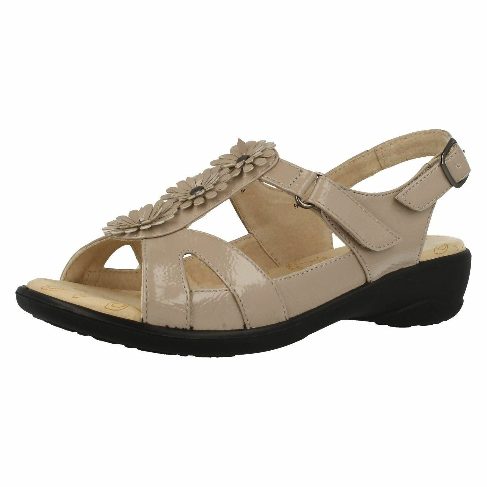 LADIES PADDERS PARIS COMFORTABLE CASUAL CASUAL CASUAL FLAT WIDE FIT OPEN TOE SUMMER SANDALS 5cac88