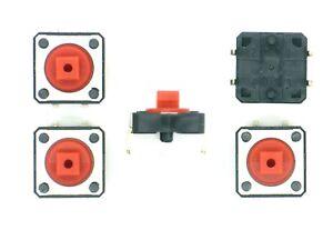 5x-Eingabetaster-liegend-12V-50mA-ca-12x12x7-25mm-Taster-Nr-16