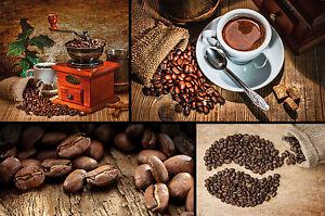 kaffee fototapete collage coffee wandmotiv tapete xxl. Black Bedroom Furniture Sets. Home Design Ideas