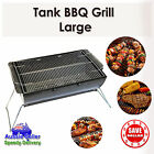 Charcoal BBQ Grill Portable Outdoor Barbeque Stainless Steel Barrel Camping