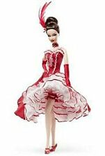 MOULIN ROUGE Gold Label Barbie Doll Classic Can Can Dancer Parisian French NIB