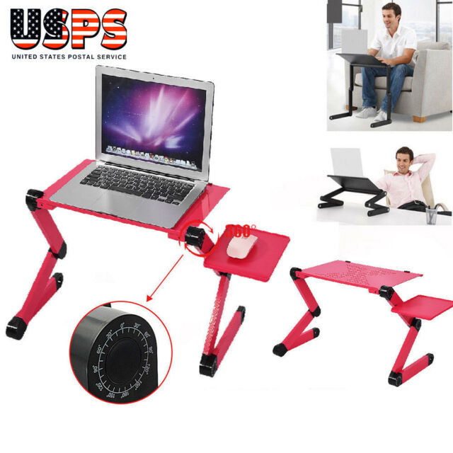 Outstanding Red 3600 Adjustable Folding Laptop Table Lap Desk Bed Computer Tray Stand Home Interior And Landscaping Ologienasavecom