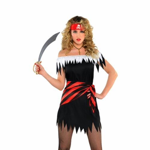 Mens Womens Caribbean Pirate Captain Halloween Fancy Dress Party Couples Outfit
