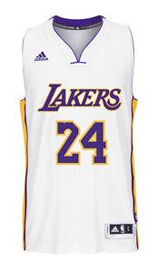 Kobe Bryant #24 Los Angeles Lakers White adidas Swingman Men's ...
