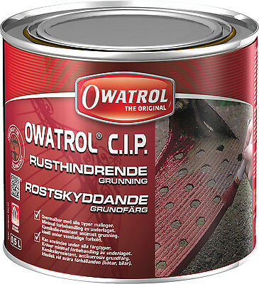 OWATROL CIP Rostversiegelung C.I.P.Metall  0,5L Rostschutzprimer Rostschutz
