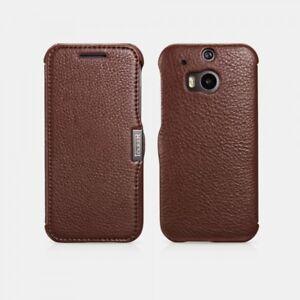Etui HTC M8 en cuir véritable Litchi pattern Marron DVu3JOPq-07133350-466697464