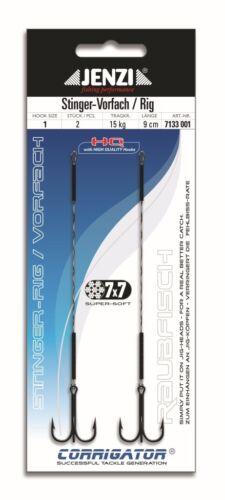 JENZI Stinger Vorfach Angsthaken 7x7 2 Stück verschiedene Größen und Längen