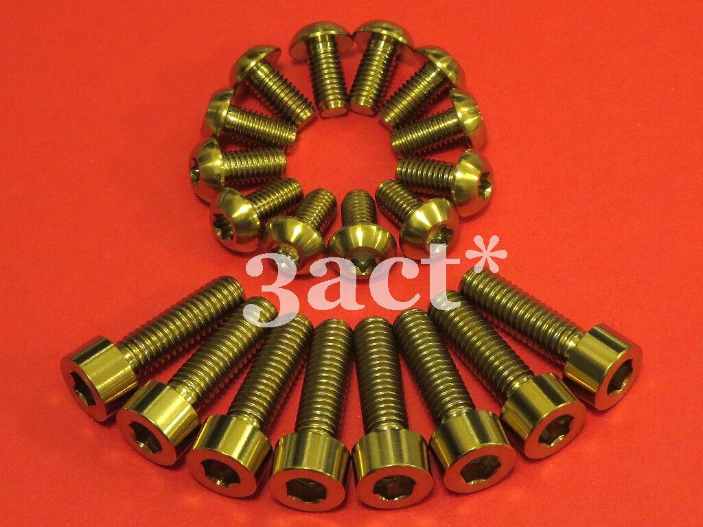 12 - M5 x 10mm, 8 - M6 x 20mm Titanium Ti Bolt Disc Brake Caliper Mount & redor