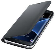 Original Samsung Galaxy s7 Edge cover funda protectora abatible, cartera, ef-wg935 negro