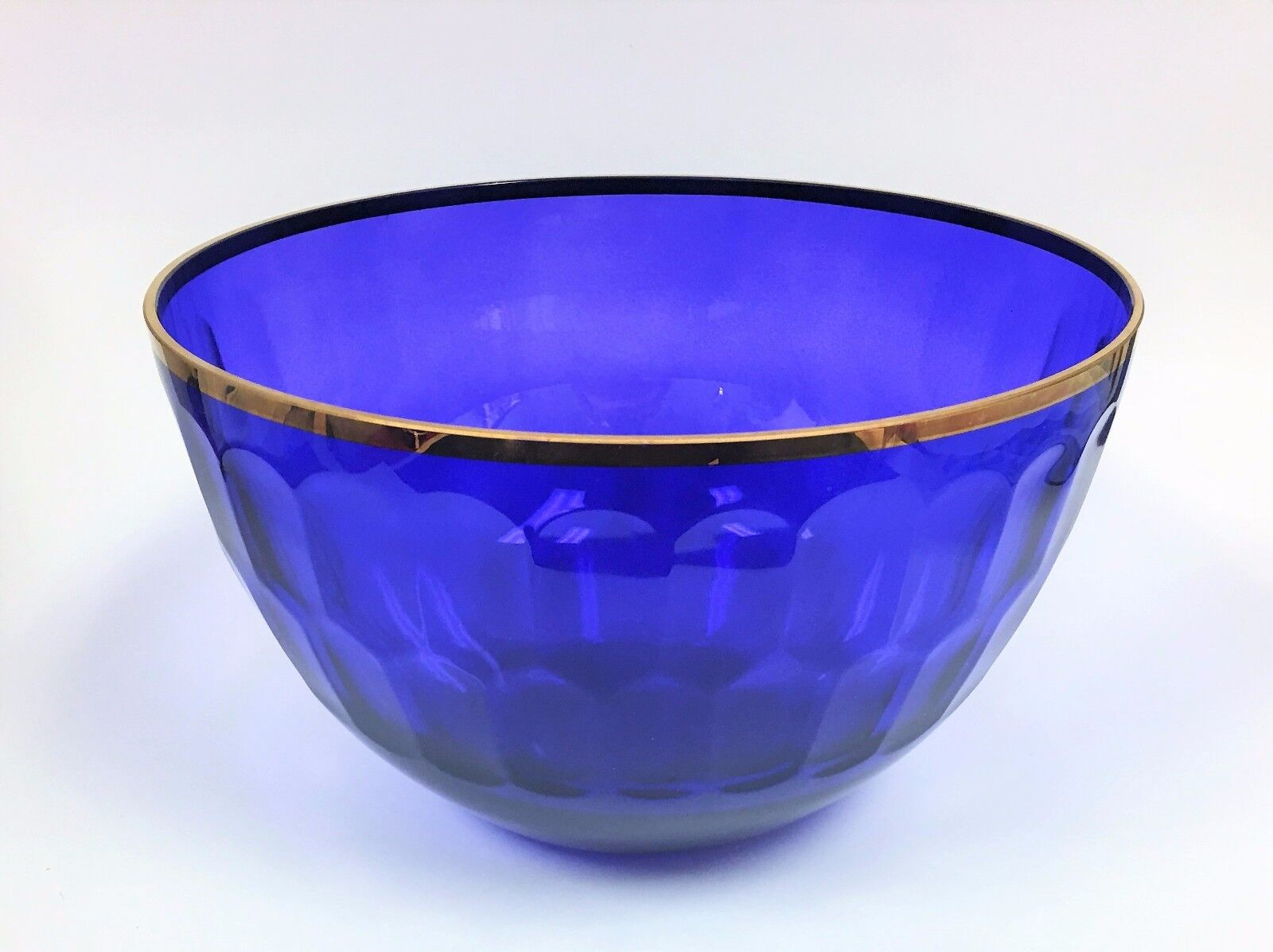 Neu Oscar Oscar Oscar De La Renta Glas Kobaltblau + Goldener Rand Galerie Medizinische 393ad0