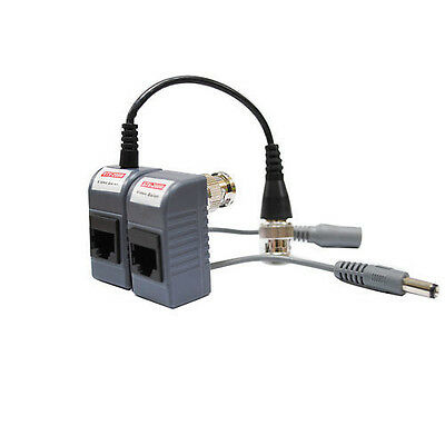 1pairs ( 2pcs ) CCTV BNC Pigtail Video Balun Cable Connector For CA Cat5 Cable