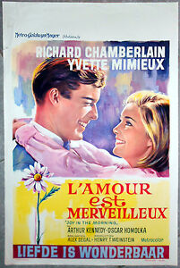 Affiche-AMOUR-EST-MERVEILLEUX-Joy-in-the-morning-CHAMBERLAIN-AFF-Belge-1965
